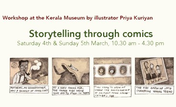 Workshop at Kerala Museum by Illustrator Priya Kuriyan