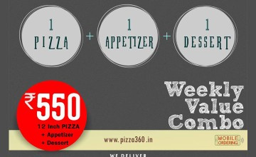 Special Offers at 360 Degrees Pizzeria
