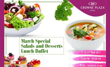 March Special Salads and Desserts Lunch Buffet