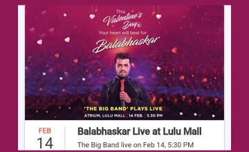 Balabhaskar Live on Valentine's Day