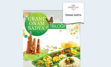 Grand Onam Sadya By Crowne Plaza