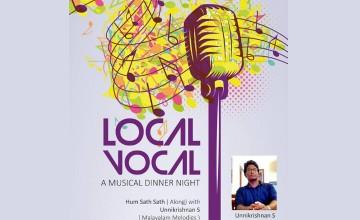 Music With Dinner @ Ledhi.  Ft.Unnikrishnan.S -Local Vocal (Malayalam Melodies)