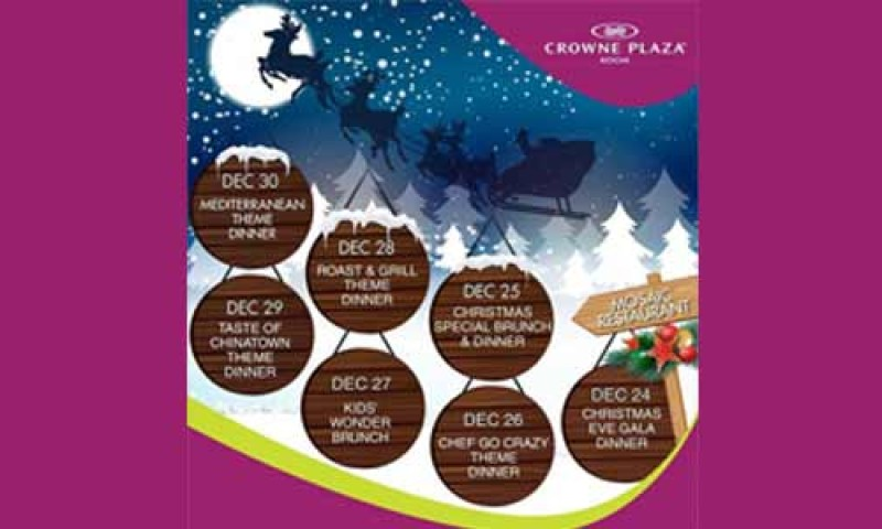 Christmas specials at Crowne Plaza