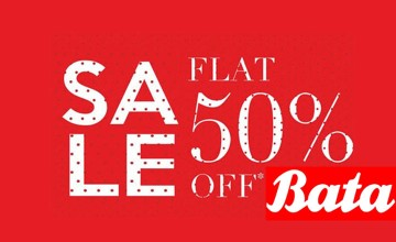 Flat 50% OFF at Bata Showroom