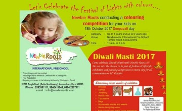 Newbie Roots Coloring Competition & Diwali Masti 2017 Exhibition