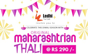 Maharashtrian Thali at Ledhi Art Cafe