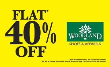 Flat 40% Off at Woodland