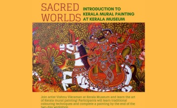Sacred Worlds - Workshop On Kerala Mural Painting