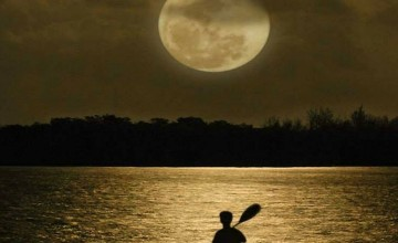 Moonlight Kayaking by Redrawlife