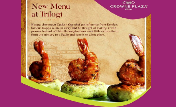 50% Off on the Chef's New Menu at Trilogi