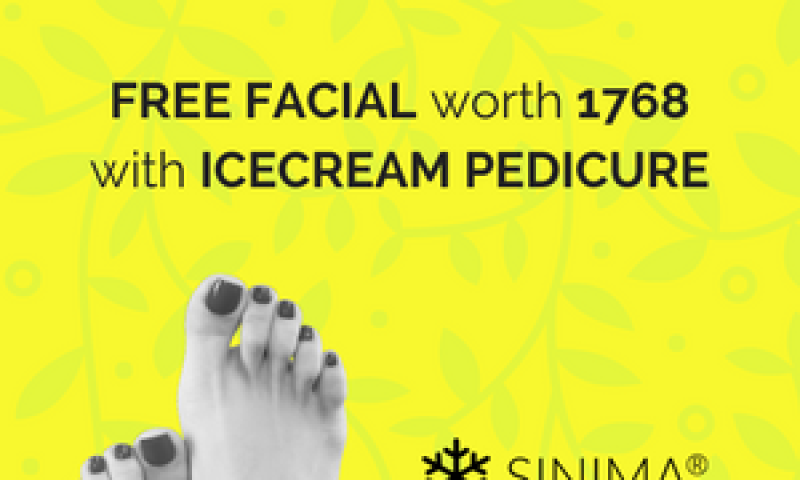 FREE FACIAL worth 1768  with ICECREAM PEDICURE