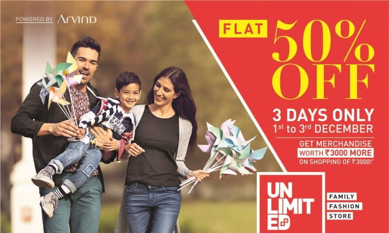Flat 50% Off At Unlimited