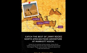 Catch the best of Jimmy Rocks - North African Food Adventure at Marriott Kochi