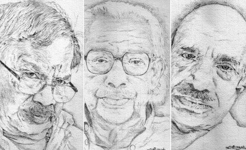 Pencil Portraits Exhibition by artist C V Harindran