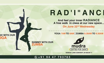 Free Yoga and Zumba Session at Mudra Centre for Dance