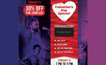 30% Off for Couples on Valentine's Day