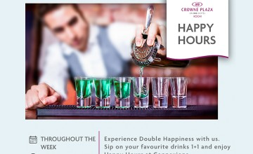 HAPPY HOURS  at Crowne Plaza