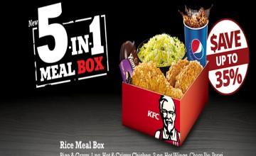 5 in 1 Meal Box at KFC at 35% Off
