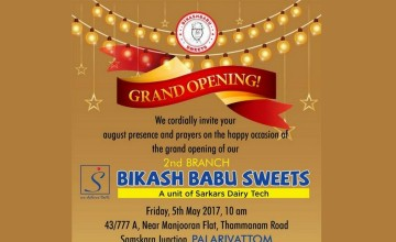 Grand Opening of Bikash Babu Sweets