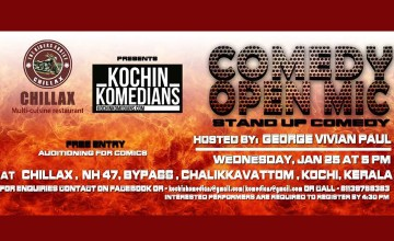 Chillax presents Kochin Komedians Open Mic