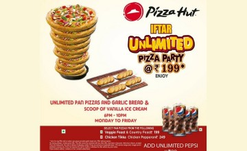 Iftar Unlimited Pizza Party by Pizza Hut
