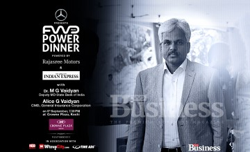 Mercedes Benz – FWD POWER Dinner with Dr MG Vaidyan, Deputy MD SBI and Mrs Alice G Vaidyan, Chairman and MD GIC