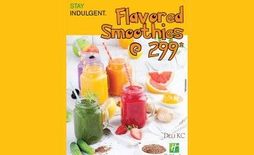Flavored Smoothies at just 299