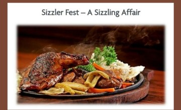 A Sizzling Affair -Food Fest