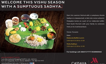 Welcome This Vishu Season With A Sumptuous Sadya