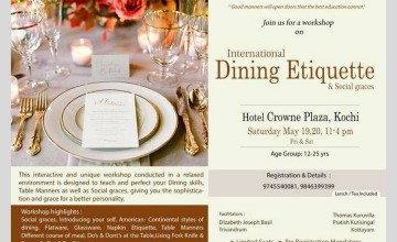 Workshop on Dining Etiquette & Social Etiquette for Teenagers