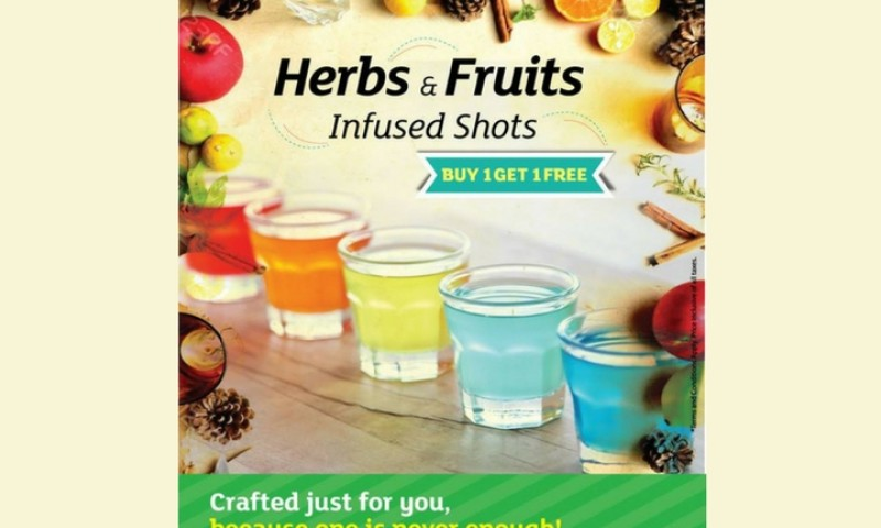 Herbs And Fruits Infused Shots