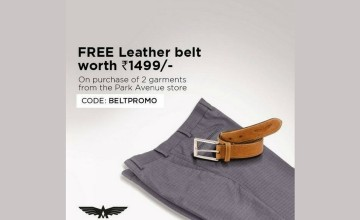 Shop and Get a Free Leather Belt