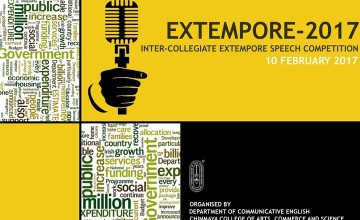 Extempore 2017 - Intercollege Speech Competition