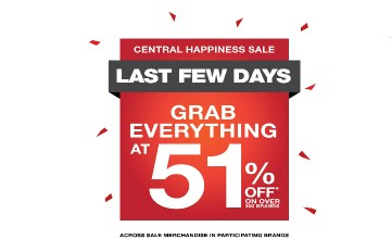 Over 51% off on over 200 brands at the Centre Square Happiness Sale
