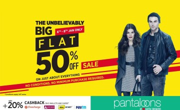 Flat 50% Off at Pantaloons
