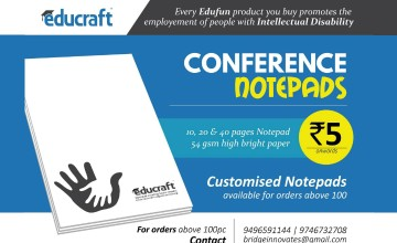 Customised Conference Notepads from Rs. 5 Onwards