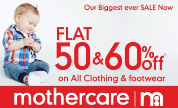 Flat 60% Off at Mothercare
