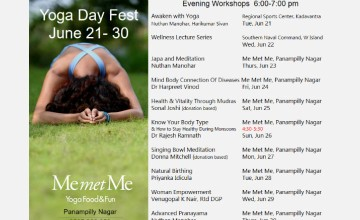 Yoga Week Sessions at Me Met Me