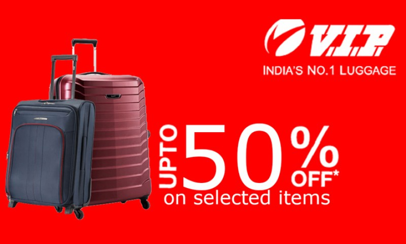 Upto 50% off on selected items at V.I.P