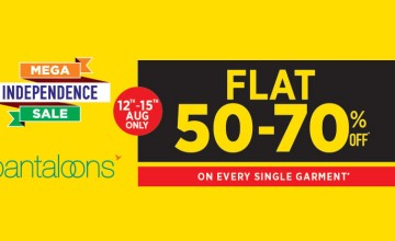 Pantaloons Mega Independence Sale