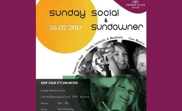 Sunday Social and Sundowner Featuring artist Ashif Jamal
