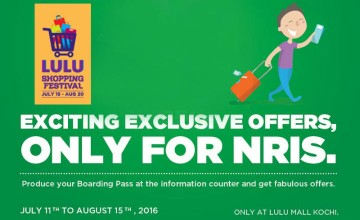 Exciting offers for NRI's at LULU Shopping Festival