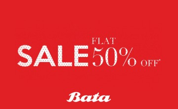 Flat 50% Off at Bata
