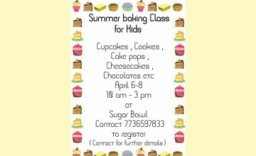 Summer Baking Class for Kids