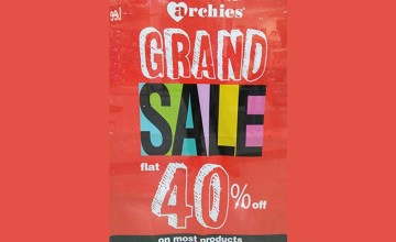 Grand Sale at Archies