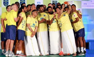 Kerala Blasters FC Kick off The Season With the Team Unveiling