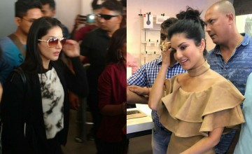 Time stood still at MG Road as Sunny Leone lands in Kochi