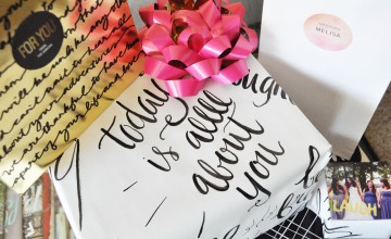 10 Reasons To Learn Modern Calligraphy And Gift Wrapping  + Contest Alert