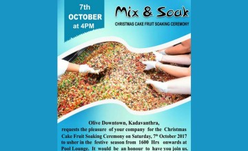 Mix And Soak - Christmas Cake Fruit Soaking Ceremony