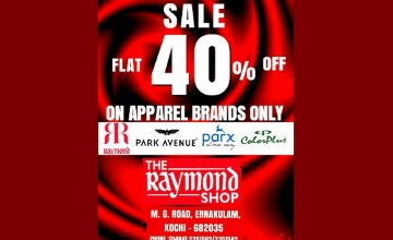 Flat 40% Off at The Raymond Shop